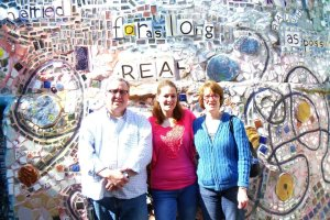 Scott, Annabelle, and I in March 2012 at the Magic garden in Philadelphia