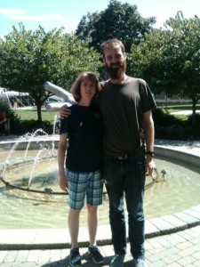 Ben and I at Kutztown University visiting his sister August 2013