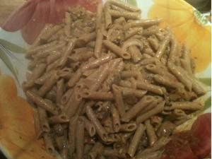 Penne with white wine mushroom sauce from the FOK cookbook