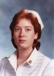 Nursing school graduation, 1985