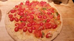 Tomato chutney pizza