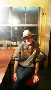 Abelle with hat