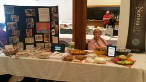 Edie at health fair