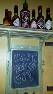 hot sauce shelf
