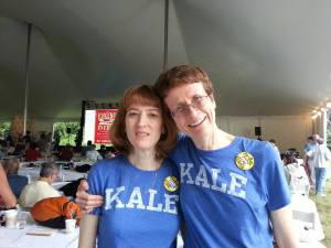 One of my plantstrong buddies, Lisa and me at Plantstock last summer on the Esselstyn farm!