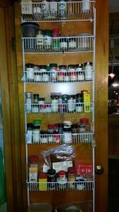Spices on door