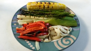 plated grilled veggies
