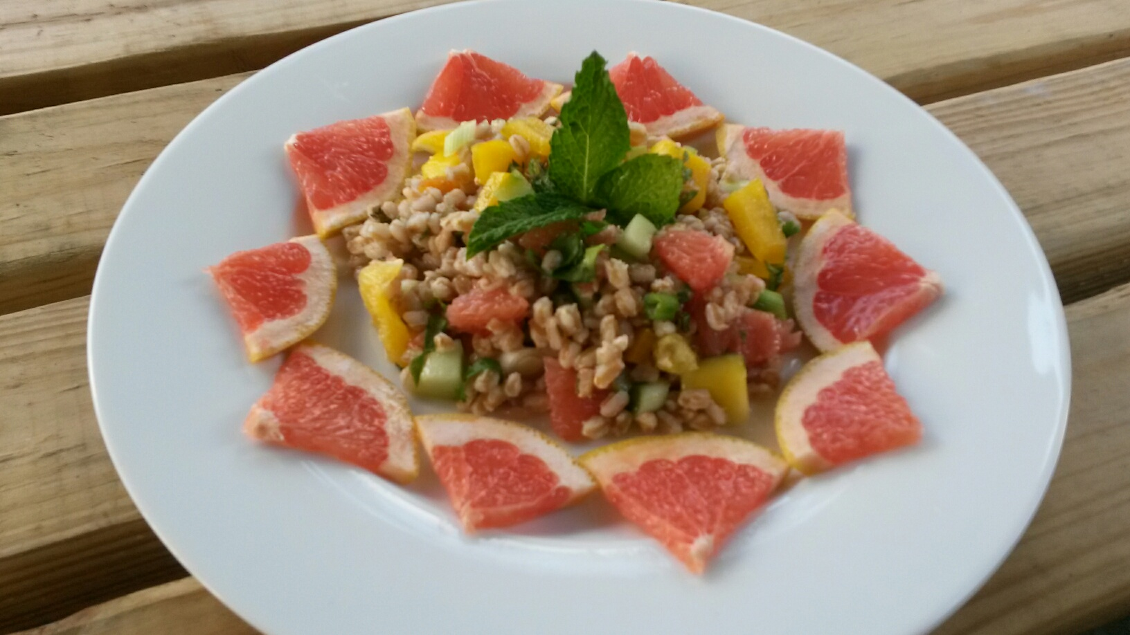 Grainy Grapefruit salad