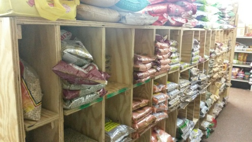 Rice shelves